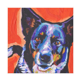 Blue Heeler  Pop Art on Stretched Canvas