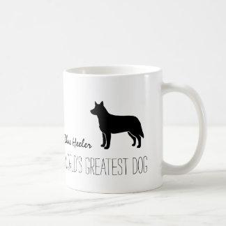 Blue Heeler Silhouette World's Greatest Dog Coffee Mug