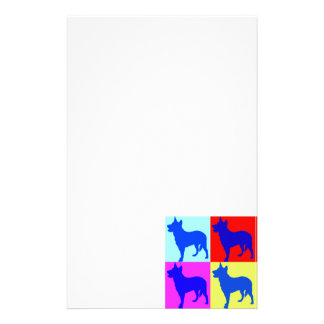Blue Heelers Color Wall Personalized Stationery