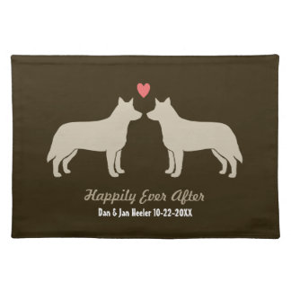 Blue Heelers Wedding with Custom Text Placemat