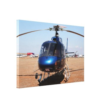 franwestphotography Blue helicopter canvas print