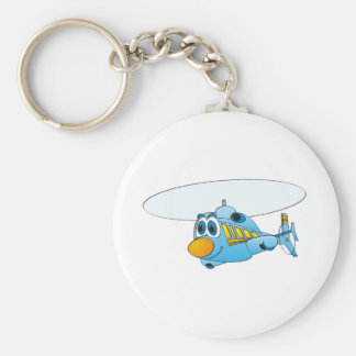 Blue Helicopter Cartoon Keychains