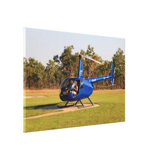Blue helicopter, Outback Australia Canvas Print