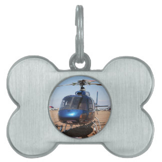 Blue helicopter pet ID tag