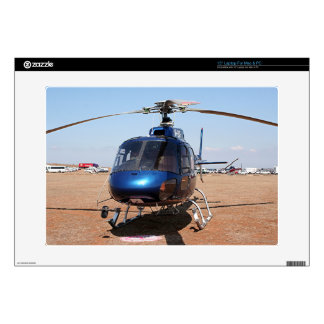 Blue helicopter skin for laptop