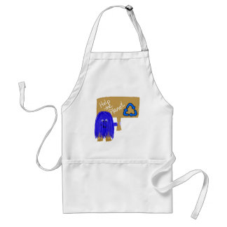 Blue help the planet recycle aprons