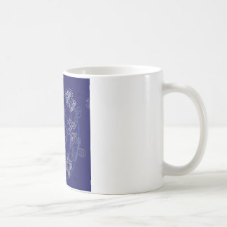 Blue Henna Flies Coffee Mug