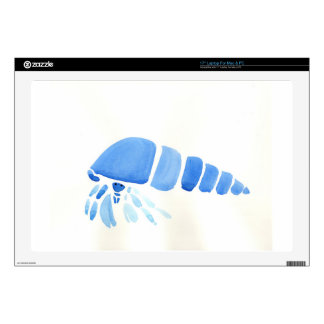"Blue Hermit Crab Skin For 17"" Laptop"