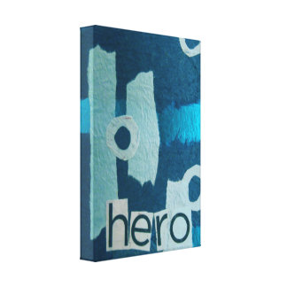 Blue Hero Collage printed canvas Gallery Wrap Canvas