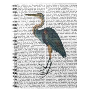 Blue Heron 3 Spiral Notebook
