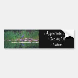 Blue Heron Appreciate Nature Bumper Sticker