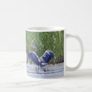 Blue Heron at Stillwater wildlife refuge Mug