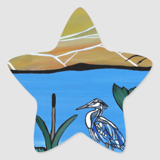 Blue Heron Bay Star Sticker