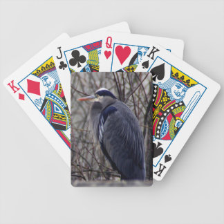 Blue Heron Bicycle Playing Cards