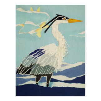 Blue Heron Bird Postcard