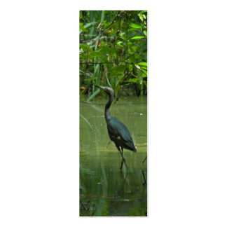 Blue Heron Bookmark Double-Sided Mini Business Cards (Pack Of 20)
