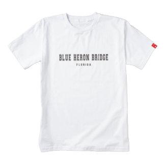 Blue Heron Bridge Florida Zazzle HEART T-Shirt