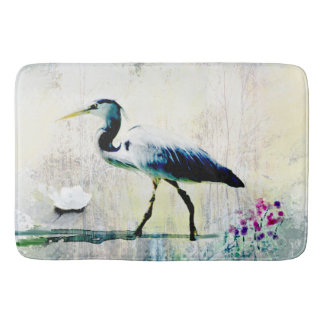 Blue Heron Custom Bath Mat
