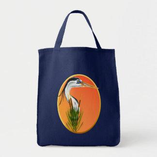 Blue Heron Framed Bag