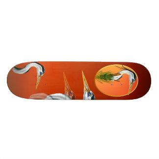 Blue Heron Framed Skateboard