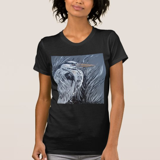 BLUE HERON IN BLACK AND WHITE T-Shirt