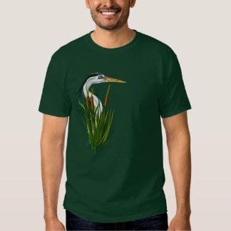 Blue Heron In Cattails  T-Shirt