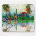 blue heron in my mexican garden mouse pad