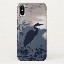 Blue Heron iPhone X Case