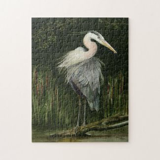 Blue Heron Jigsaw Puzzle