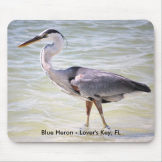 blue heron Lovers Key FL, Blue Heron - Lover's ... Mouse Pad