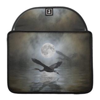 Blue Heron Moon Wildlife  MacBook Sleeve