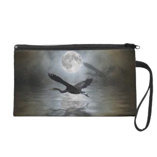 Blue Heron Moon Wildlife Wrist Purse