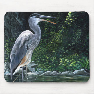 """""""Blue Heron"""" Mouse Pad"""