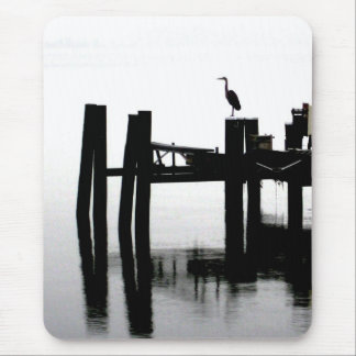 Blue Heron on a Gray Day Mouse Pad