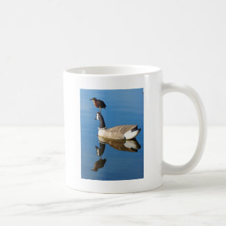 Blue Heron on Duck Decoy by Artist William Bock Coffee Mug