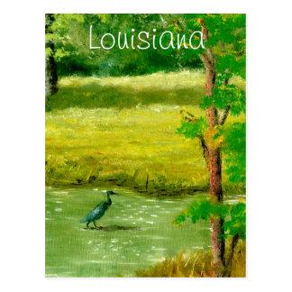 Blue Heron on Louisiana Pond Postcards