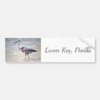 Blue Heron on Lovers Key Bumper Sticker