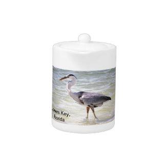 Blue Heron on Lovers Key Teapot