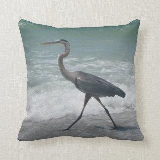 Blue Heron Throw Pillows