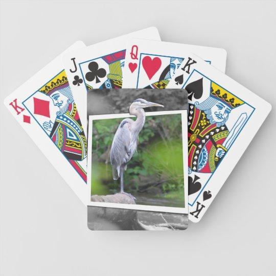 Blue Heron Playing Cards
