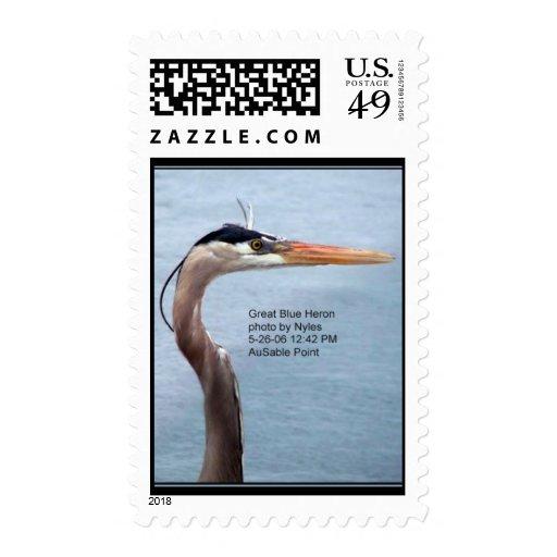 Blue Heron Postage
