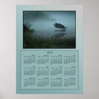 Blue Heron Poster 2013 Calendar