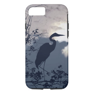 Blue Heron silhouette photography iPhone 7 Case