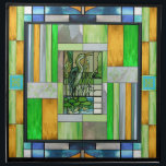 """Blue Heron Stained Glass Napkin<br><div class=""""desc"""">Set of 4 20"""" x 20"""" cloth dinner napkins with an image of a stained glass artwork with a blue heron motif. See matching paper cocktail napkin and square plastic coaster. See the entire This &amp; That Napkin collection in the HOME section.</div>"""
