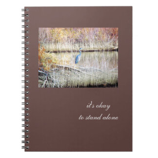Blue Heron Standing Alone Journal
