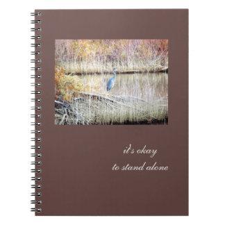 Blue Heron Standing Alone Journal