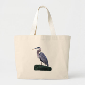 Blue Heron Standing in Grass Bag
