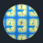 "blue heron sunrise dartboard<br><div class=""desc"">blue heron  with yellow</div>"