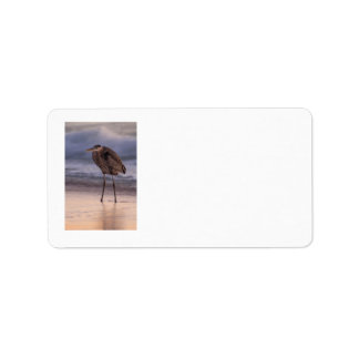 Blue Heron Sunset Label