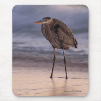 Blue Heron Sunset Mouse Pad